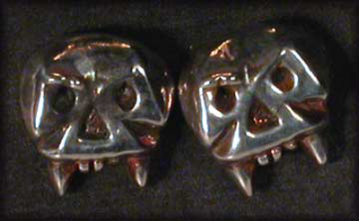 Vampire Skull Stud Earrings