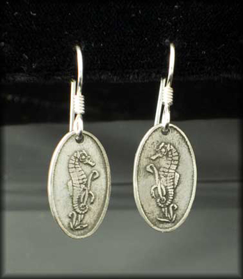 Seahorse Earrings in Silver