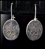 Joker Skull Earrings