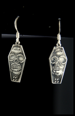 Coffin Skull Earrings
