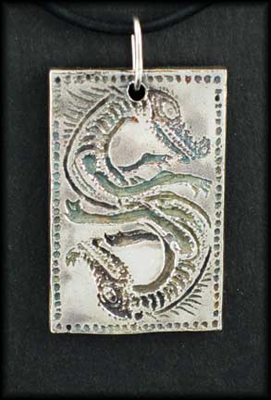 2 Ghost Dragons Pendant