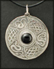 Shield Pendant with Black Onyx