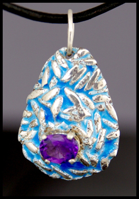 Blue Rice Pendant