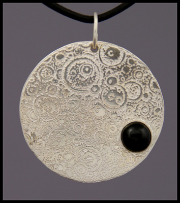 Moon Pendant (with Onyx)