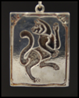 Dancing Cat (Negative) Pendant