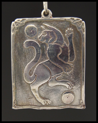 Dancing Cat (Positive) Pendant