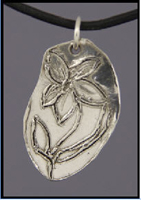 Primitive Flower Pendant