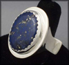 Big Flapper Ring (with Lapis Lazuli)