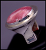 Big Flapper Ring (with Rhodochrosite)