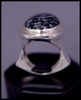 Big Flapper Ring (with Snowflake Obsidian)