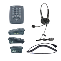 Dial pad telephone with dual ear headset