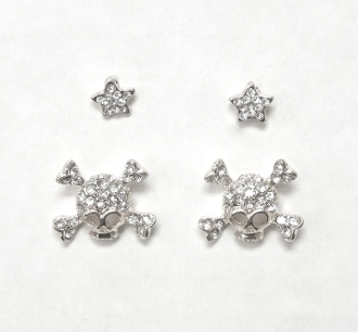 24380 SKULL EARRING SET