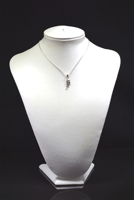 6295/N Small Angel Wing Rhinestone Necklace