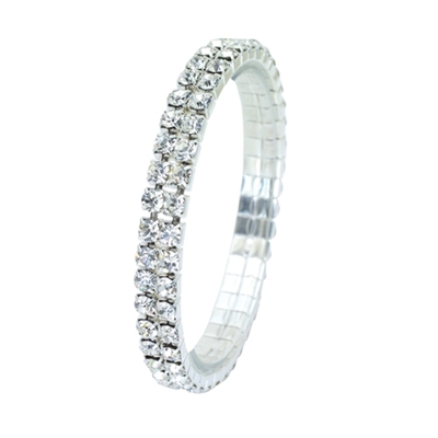 80590CR RHINESTONE STRETCH BRACELET