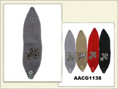 AACG1138  Head Band Knit Cross Fabric
