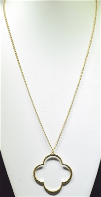 "ADN0263 36"" HAMMERED NECKLACE"