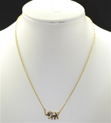MLS8256 SMALL ELEPHANT NECKLACE