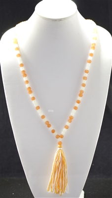 ON1510 BEADED TASSEL NECKLACE