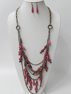 W-1289 BEADED NECKLACE SET