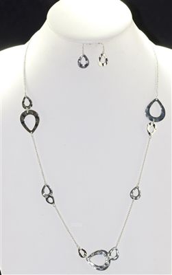 YJS2905 ANTIQUE HAMMERED NECKLACE SET