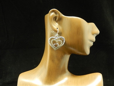 """Hope"" Heart Earrings"