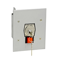 Nema 1 Interior Tamperproof Open-Close Key Switch With Stop Button Flush Mount, 1KFS