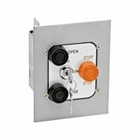 Exterior Three Button With Lockout Flush Mount Control Station