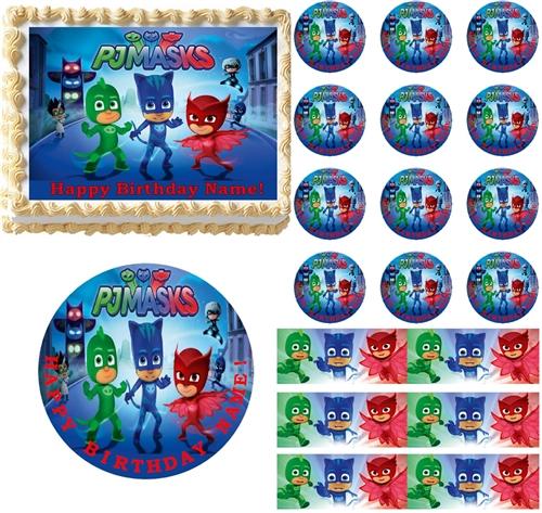 PJ Masks Edible Cake Topper Image Frosting Sheet Decoration All Sizes