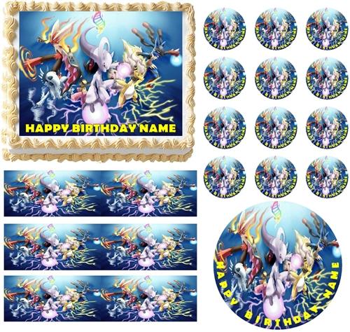 Pokemon Edible Cake Topper   Sheet