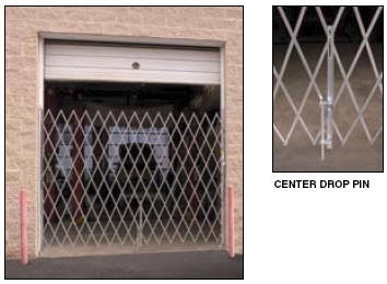 & Galvanized Accordion Security Dock and Door Gates (Choose Sizes Within)
