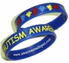 Pulsera de Goma Autism Awareness Azul - Adulto