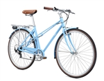 Fuji League Step Thru City Commuter Bike Sky Blue 2018 - On Sale NOW at Bikecraze.com