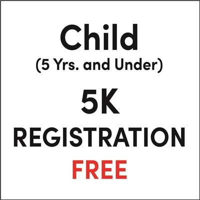Child (5 yrs. and under) Registration