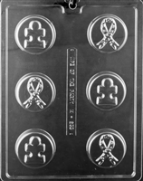Ribbon Puzzle Cookie Chocolate Candy Mold with Exclusive Cybrtrayd Copyrighted Molding Instructions