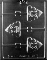 Poop Emoji Lolly Chocolate Candy Mold with Exclusive Cybrtrayd Copyrighted Molding Instructions