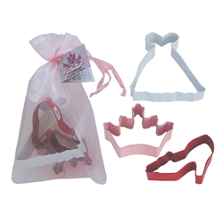 Princess 3 Piece Colorful Cookie Cutter Set In Bag