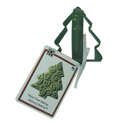"Christmas Tree 3.5"" Polyresin Coated Cookie Cutter Green with Handle"