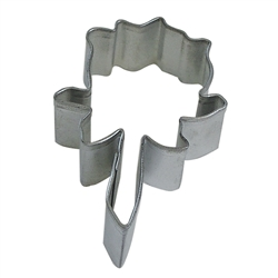 "Rose 3"" Tinplated Steel Cookie Cutter"