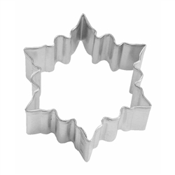 "Snowflake 2.75"" Tinplated Steel Cookie Cutter"