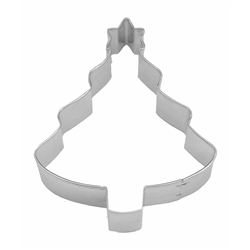 "Tree with Star 4"" Tinplated Steel Cookie Cutter"