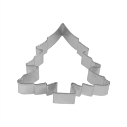 "Christmas Tree 5"" Tinplated Steel Cookie Cutter"