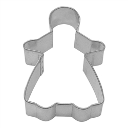 "Gingerbread Girl 3.75"" Tinplated Steel Cookie Cutter"