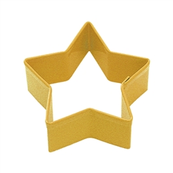 "Star 2.75"" Polyresin Coated Cookie Cutter Yellow"