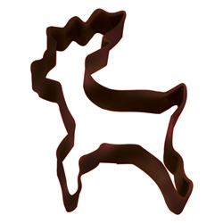 "Reindeer Standing 4"" Polyresin Coated Cookie Cutter Brown"