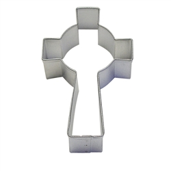 "Celtic Cross 3.5"" Tinplated Steel Cookie Cutter"