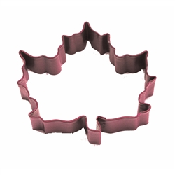 "Canada Maple Leaf 3"" Polyresin Coated Cookie Cutter Red"