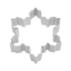 "Snowflake 4"" Polyresin Coated Cookie Cutter White"