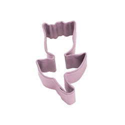Mini Tulip Polyresin Coated Cookie Cutter Pink