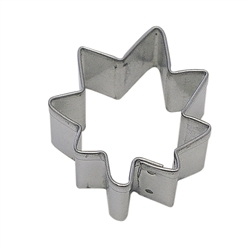 Mini Maple Leaf Tinplated Steel Cookie Cutter