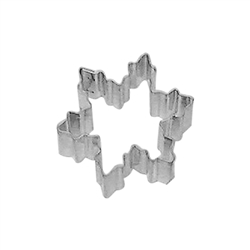 Mini Snowflake Tinplated Steel Cookie Cutter #3